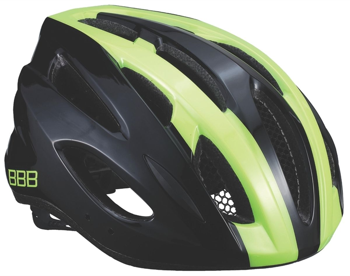 Шлем летний BBB Condor, цвет: черный, желтый. Размер MZ90 blackЕсли вы не понаслышке знакомы с разнообразными насекомыми, залетающими в вентиляционные отверстия шлема летом - вам может очень пригодиться BBB Condor. Фронтальные отверстия прикрыты мелкой сеткой для защиты от непрошенных гостей. Кроме того, у шлема всего суммарно 18 отверстий для вентиляции и интегрированная конструкция для максимальной защиты в случае падений. Съемный козырек делает этот шлем одинаково хорошо подходящим как для шоссе, так и для маунтинбайка.Особенности:Интегрированная конструкция.18 вентиляционных отверстий.Отверстия для вентиляции в задней части шлема для оптимального распределения потоков воздуха.Защитная сетка от насекомых в вентиляционных отверстиях.Настраиваемые ремешки для максимально комфортной посадки.Простая в использовании система настройки TwistClose, можно настроить шлем одной рукой.Съемные мягкие накладки с антибактериальными свойствами и возможностью стирки.Светоотражающие наклейки на задней части шлема.Съемный козырек в комплекте.Обхват головы: 54-58 см.
