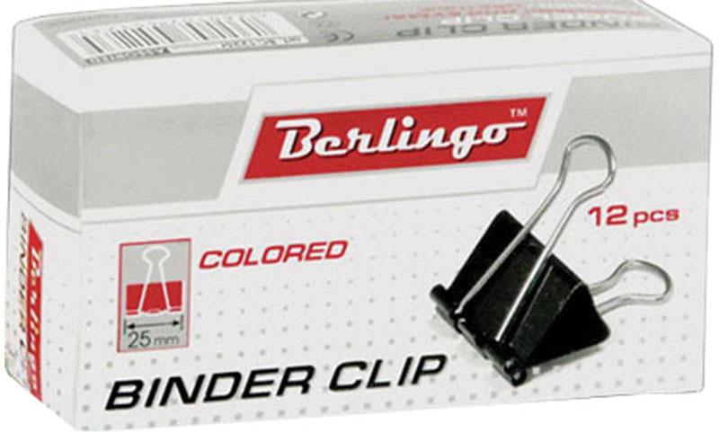 Berlingo Зажим для бумаг ширина 25 мм 12 штFS-54100Зажим для бумагBerlingo предназначен для скрепления бумажных носителей.Зажим выполнен из стали. В упаковке 12 разноцветных зажимов. Они надежно и легко скрепляют, не деформируют бумагу, не оставляют на ней следов.
