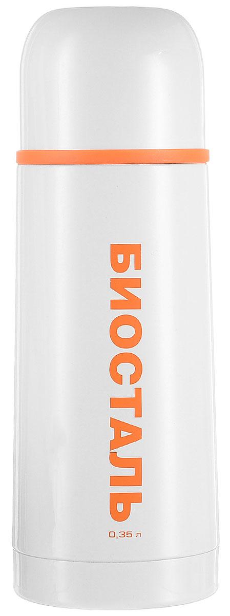 Термос Biostal Flёr, цвет: белый, 350 мл310516Термос с узким горлом Biostal Flёr, изготовленный из высококачественной нержавеющей стали 18/8, покрыт износостойким лаком. Такой термос прост в использовании, экономичен и многофункционален. Термос предназначен для хранения горячих и холодных напитков (чая, кофе) и укомплектован пробкой с кнопкой. Такая пробка удобна в использовании и позволяет, не отвинчивая ее, наливать напитки после простого нажатия. Изделие также оснащено крышкой-чашкой. Легкий и прочный термос Biostal Flёr сохранит ваши напитки горячими или холодными надолго. Высота термоса (с учетом крышки): 19,5 см.Диаметр горлышка: 4,3 см.
