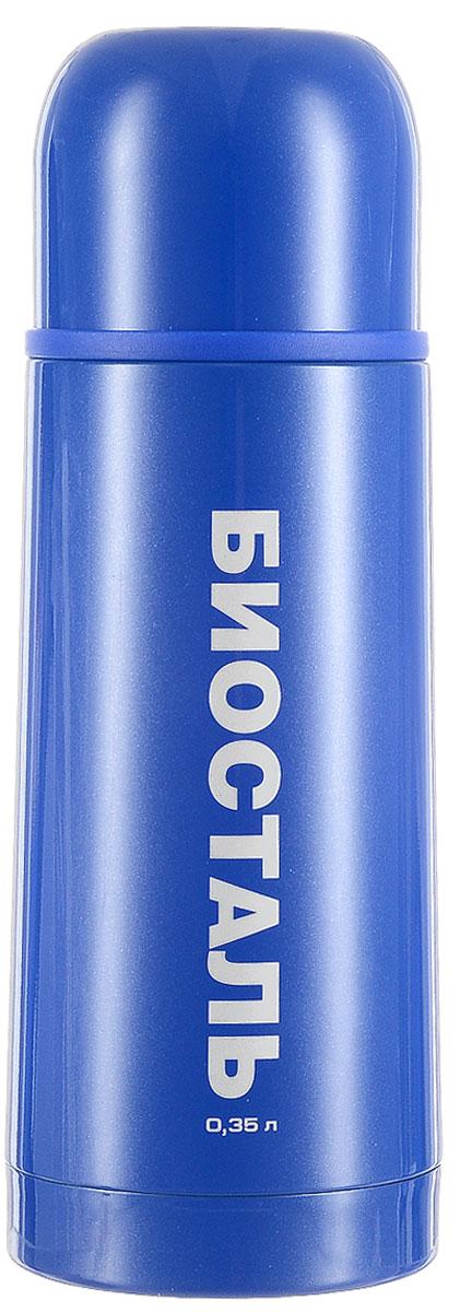 Термос Biostal Flёr, цвет: синий, 350 млLU-ST1004 стальТермос с узким горлом Biostal Flёr, изготовленный из высококачественной нержавеющей стали 18/8, покрыт износостойким лаком. Такой термос прост в использовании, экономичен и многофункционален. Термос предназначен для хранения горячих и холодных напитков (чая, кофе) и укомплектован пробкой с кнопкой. Такая пробка удобна в использовании и позволяет, не отвинчивая ее, наливать напитки после простого нажатия. Изделие также оснащено крышкой-чашкой. Легкий и прочный термос Biostal Flёr сохранит ваши напитки горячими или холодными надолго. Высота термоса (с учетом крышки): 19,5 см.Диаметр горлышка: 4,3 см.