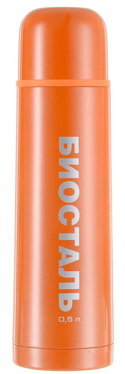 Термос Biostal Flёr, цвет: оранжевый, 500 млNB-500С-OТермос с узким горлом Biostal Flёr, изготовленный из высококачественной нержавеющей стали 18/8, покрыт износостойким лаком. Такой термос прост в использовании, экономичен и многофункционален. Термос предназначен для хранения горячих и холодных напитков (чая, кофе) и укомплектован пробкой с кнопкой. Такая пробка удобна в использовании и позволяет, не отвинчивая ее, наливать напитки после простого нажатия. Изделие также оснащено крышкой-чашкой. Легкий и прочный термос Biostal Flёr сохранит ваши напитки горячими или холодными надолго. Высота термоса (с учетом крышки): 24 см.Диаметр горлышка: 4,5 см.