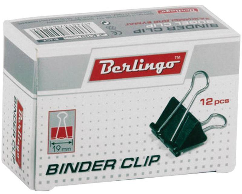 Berlingo Зажим для бумаг цвет черный ширина 19 мм 12 штBC1219Зажим для бумагBerlingo предназначен для скрепления бумажных носителей.Зажим выполнен из стали. В упаковке 12 зажимов черного цвета. Они надежно и легко скрепляют, не деформируют бумагу, не оставляют на ней следов.