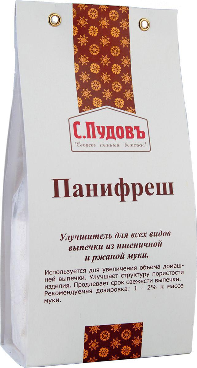 Пудовъ улучшитель хлебопекарный Панифреш, 250 г0120710Панифреш - хлебопекарный улучшитель. Используется при выпечке всех видов ржаного, пшеничного, пшенично-ржаного хлеба, а также пряников и печенья.