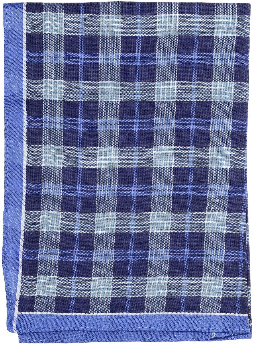 Платок носовой мужской Zlata Korunka, цвет: синий. 45495. Размер 38 х 38 см39864|Серьги с подвескамиМужской носовой платок Zlata Korunka, изготовленный из натурального хлопка, приятен в использовании и отлично впитывает влагу. Материал не садится и хорошо стирается. Модель оформлена принтом в клетку.