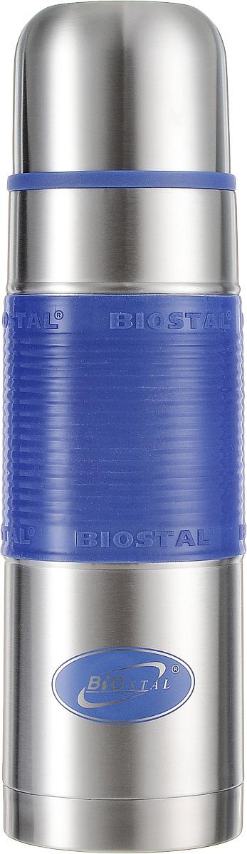 Термос Biostal, цвет: синий, стальной, 0,75 л термос 0 75 л biostal 750ny 2