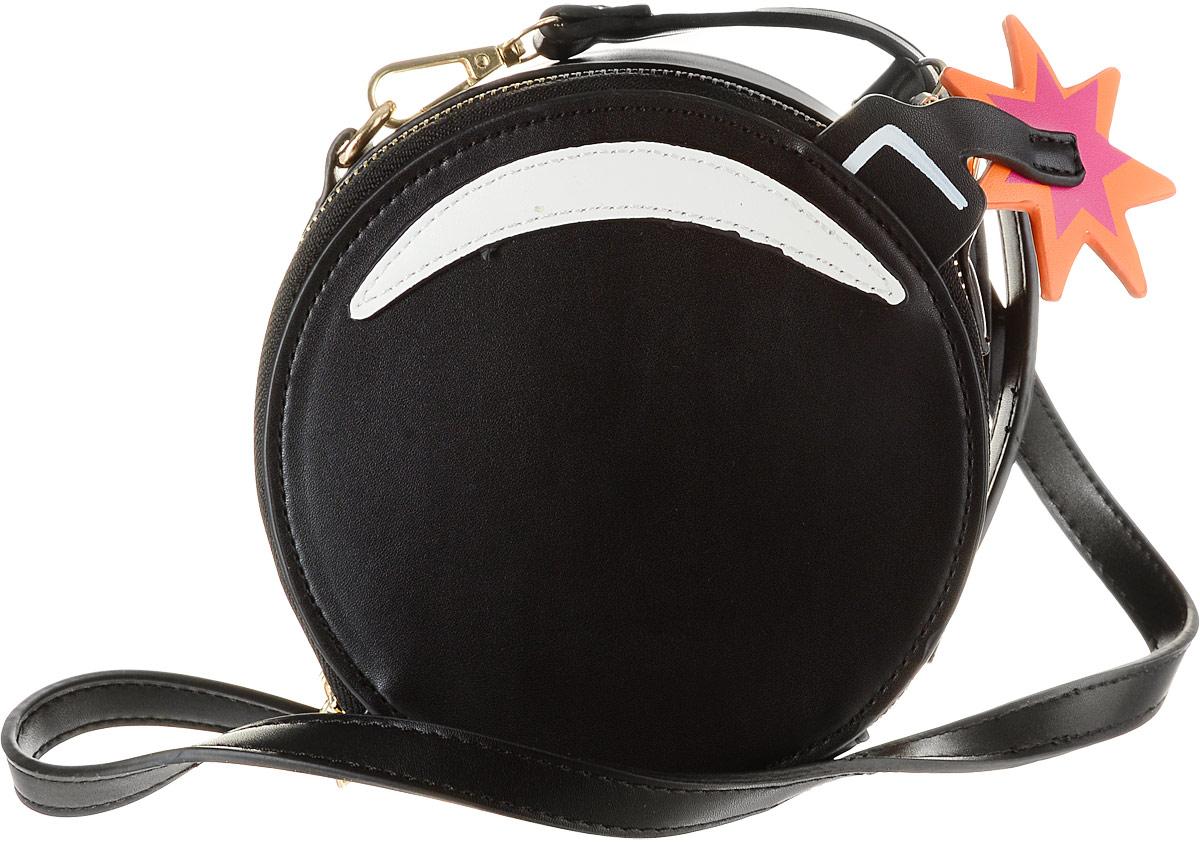 Сумка женская Kawaii Factory Бомба, цвет: черный. KW100-000225L39845800Женская сумка Kawaii Factory Бомба выполнена из полиуретана и оснащена застежкой-молнией. Внутренний объем позволяет вместить в аксессуар все необходимое. Модель имеет одно основное отделение. Внутри имеется прорезной кармашек на застежке-молнии и один накладной карман. В комплекте съемный плечевой ремень, который регулируется по длине.