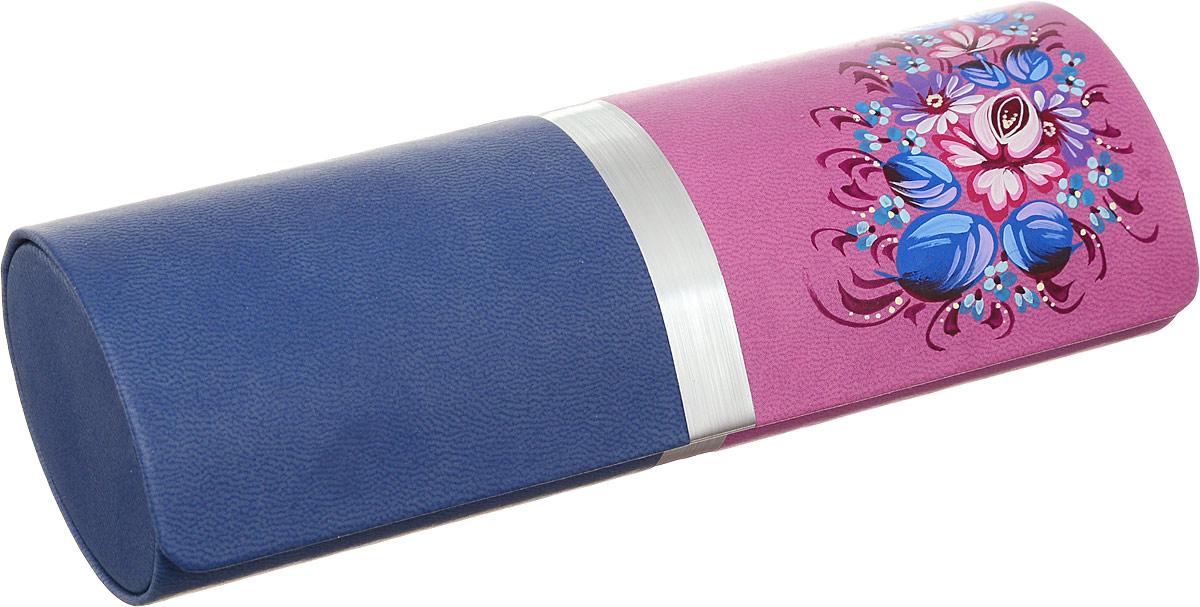 Футляр для очков Феодора Цветочная миниатюра, цвет: синий, розовый. Ручная роспись. FM-1004-TMSINT-06501Стильный футляр для очков Феодора Цветочная миниатюра выполнен из искусственной кожи и расписан вручную. Футляр закрывается на скрытый магнит. Внутренняя часть оформлена мягким бархатистым материалом.