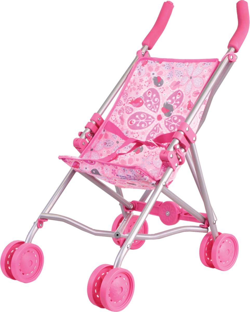 Gulliver Коляска-трость для кукол цвет розовый