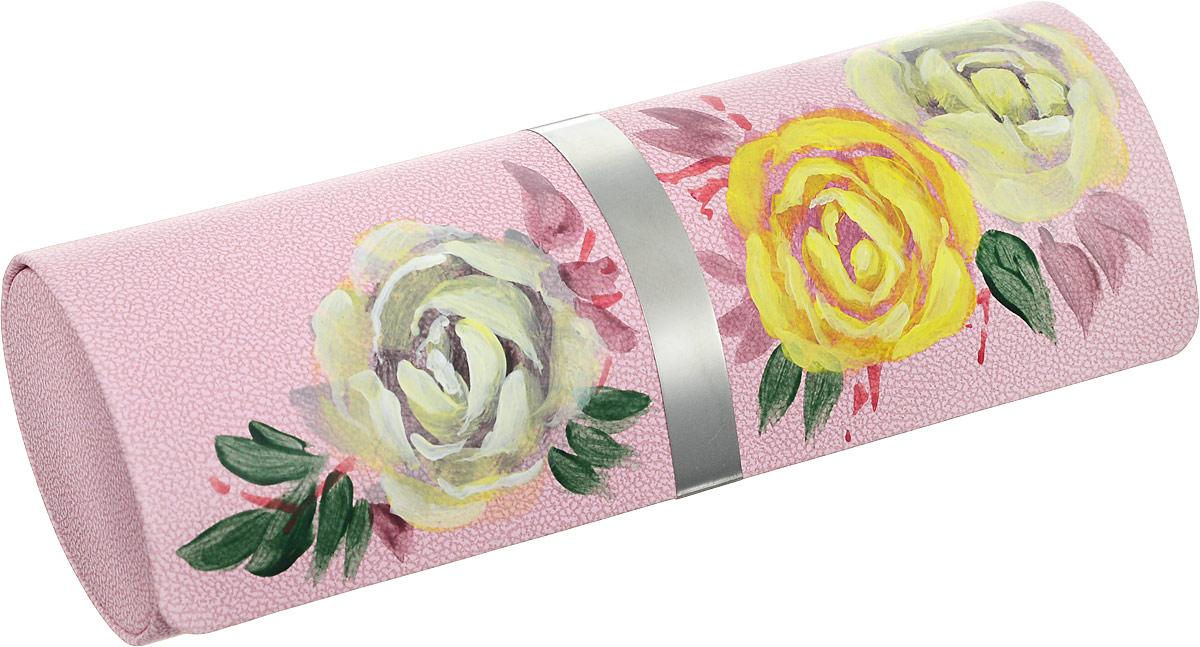 Футляр для очков Феодора Белые розы, цвет: розовый. Ручная роспись. FM-1004-BRINT-06501Стильный футляр для очков Феодора Белые розы выполнен из искусственной кожи и расписан вручную. Футляр закрывается на скрытый магнит. Внутренняя часть оформлена мягким бархатистым материалом.