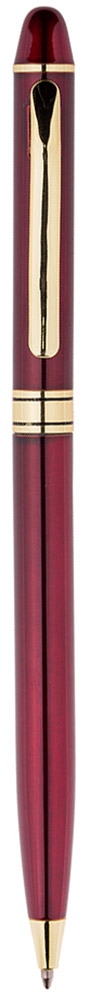 Изящная тонкая автоматическая шариковая ручка Berlingo Golden Premium с поворотным механизмом. Удобный клип. Предназначена для письма на бумаге. Диаметр пишущего узла - 0,7 мм. Цвет чернил - синий. Подходит для нанесения логотипа. Ручка упакована в индивидуальный пластиковый футляр.