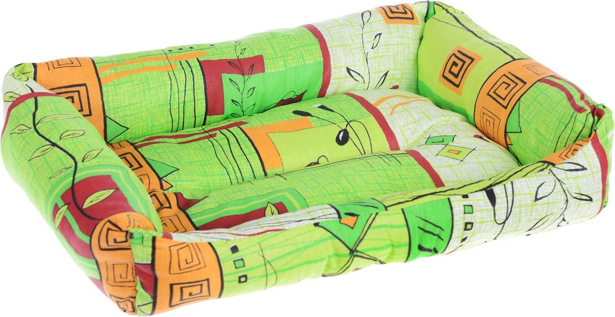 Лежак для животных Elite Valley Пуфик, цвет: светло-зеленый, оранжевый, бордовыйй, 46 х 33 х 14 см0120710Мягкий и уютный лежак Elite Valley Пуфик обязательно понравится вашему питомцу. Он выполнен из высококачественной бязи, а наполнитель - холлофайбер. Такой материал не теряет своей формы долгое время. Борта и встроенный матрас обеспечат вашему любимцу уют.Мягкий лежак станет излюбленным местом вашего питомца, подарит ему спокойный и комфортный сон, а также убережет вашу мебель от многочисленной шерсти.