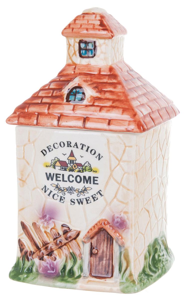 Банка для сыпучих продуктов ENS Group Дом, милый дом, 650 млVT-1520(SR)Банка для сыпучих продуктов изготовлена из высококачественной керамики. Изделие оформлено красочным изображением в виде домика. Банка прекрасно подойдет для хранения различных сыпучих продуктов: чая, кофе, сахара, соли.Изящная емкость не только поможет хранить разнообразные сыпучие продукты, но и стильно дополнит интерьер кухни. Можно использовать в посудомоечной машине.