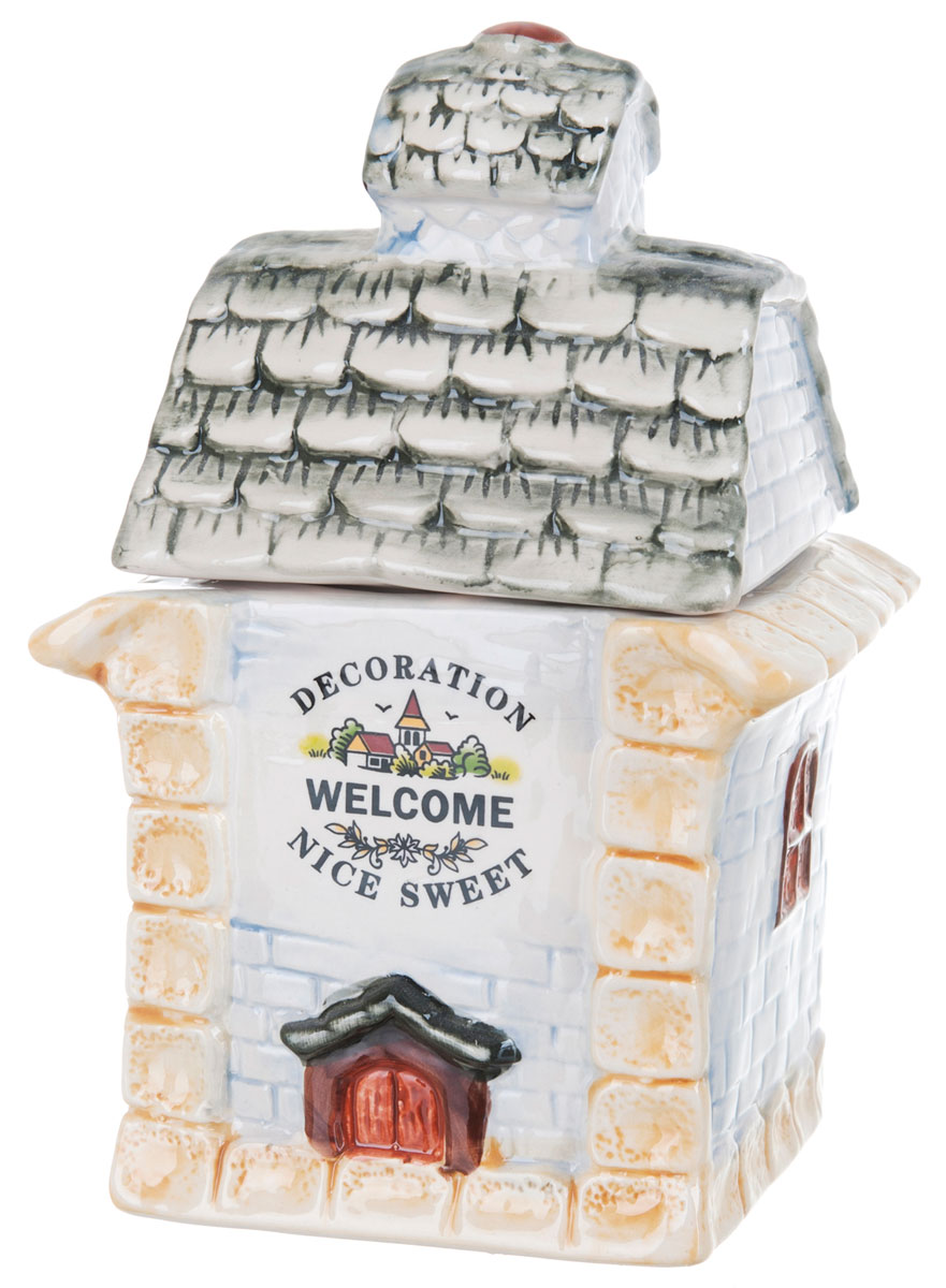 Банка для сыпучих продуктов ENS Group Дом, милый дом, 1 лVT-1520(SR)Банка для сыпучих продуктов ENS Group Дом, милый дом, изготовлена из высококачественной керамики. Изделие оформлено красочным изображением. Банка прекрасно подойдет для хранения различных сыпучих продуктов: чая, кофе, сахара, круп и многого другого. Изящная емкость не только поможет хранить разнообразные сыпучие продукты, но и стильно дополнит интерьер кухни.