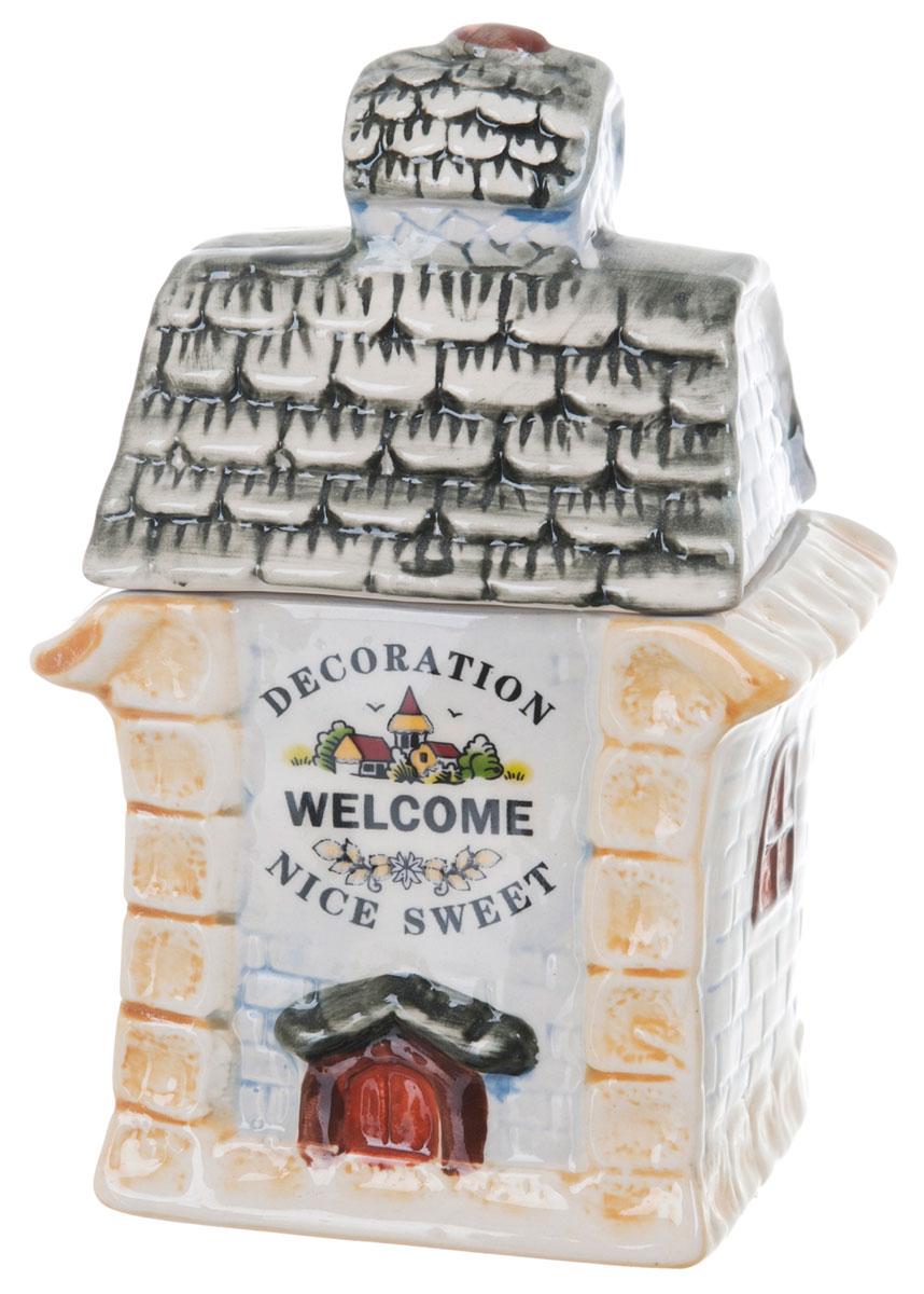 Банка для сыпучих продуктов ENS Group Дом, милый дом, 400 млVT-1520(SR)Банка для сыпучих продуктов ENS Group Дом, милый дом, изготовлена из высококачественной керамики. Изделие оформлено красочным изображением. Банка прекрасно подойдет для хранения различных сыпучих продуктов: чая, кофе, сахара, круп и многого другого. Изящная емкость не только поможет хранить разнообразные сыпучие продукты, но и стильно дополнит интерьер кухни.