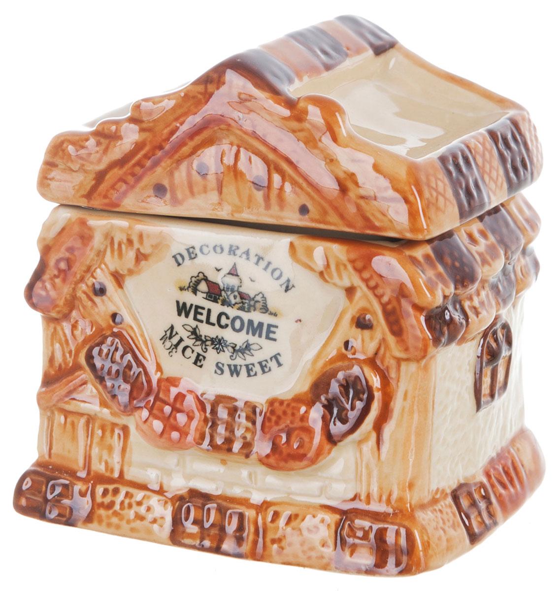 Банка для сыпучих продуктов ENS Group Дом, милый дом, 250 млSC-FD421004Банка для сыпучих продуктовENS Group Дом, милый дом, изготовлена из высококачественной керамики. Изделие оформлено красочным изображением. Банка прекрасно подойдет для хранения различных сыпучих продуктов: чая, кофе, сахара, круп и многого другого. Изящная емкость не только поможет хранить разнообразные сыпучие продукты, но и стильно дополнит интерьер кухни. Можно использовать в посудомоечной машине.