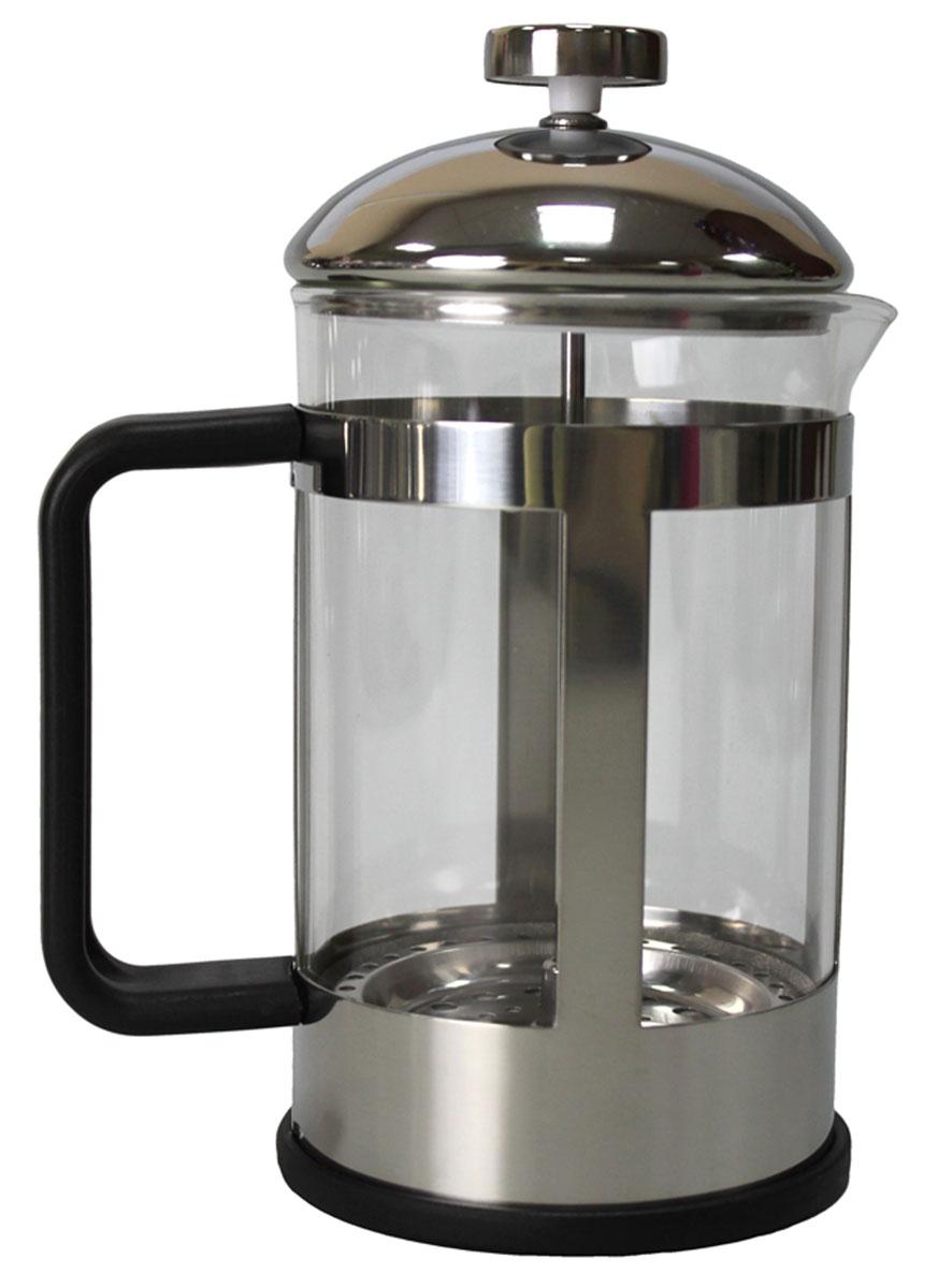 Френч-пресс Vetta Аделина, 800 млVT-1520(SR)Френч-пресс Vetta Аделина изготовлен из нержавеющей стали и жаропрочного стекла. Фильтр из нержавеющей стали. Френч-пресс позволит быстро и просто приготовить свежий и ароматный кофе или чай.