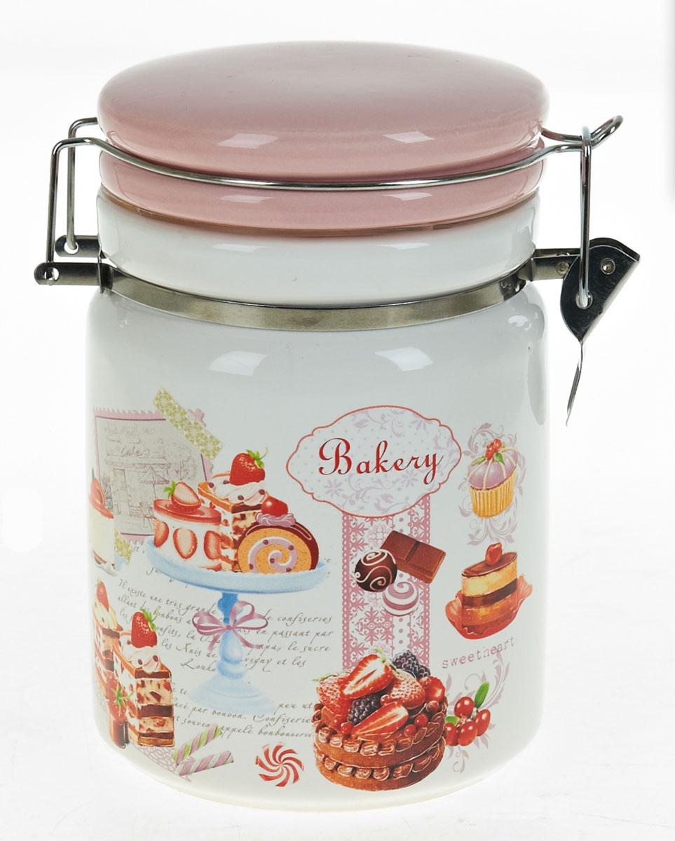 Банка для сыпучих продуктов Polystar Бисквит, 1 лVT-1520(SR)Банка для сыпучих продуктов изготовлена из прочной доломитовой керамики, покрытой слоем сверкающей гладкой глазури. Изделие оформлено красочным изображением. Банка прекрасно подойдет для хранения различных сыпучих продуктов: чая, кофе, сахара, круп и многого другого. Благодаря силиконовой прослойке и бугельному замку, крышка герметично закрывается, что позволяет дольше сохранять продукты свежими. Изящная емкость не только поможет хранить разнообразные сыпучие продукты, но и стильно дополнит интерьер кухни. Изделие подходит для использования в посудомоечной машине и в холодильнике.