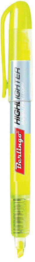 Berlingo Текстовыделитель цвет желтый72523WDТекстовыделитель Berlingo с флуоресцентным желтым цветом на водной основе. Длина непрерывной линии составляет до 200 метров. Толщина линии от 1 до 4 мм. Имеет удобный прозрачный корпус, который помогает контролировать расход чернил. Цвет колпачка и торцевого элемента соответствует цвету чернил. Подходит для всех типов бумаги.