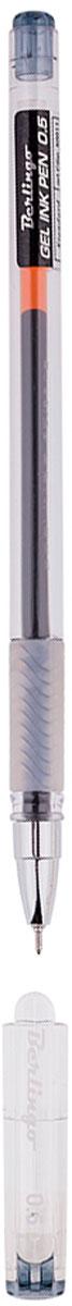 Berlingo Ручка гелевая Standard черная0703415Гелевая ручка Berlingo Standard с колпачком и пластиковым клипом. Имеет игольчатый стержень и прозрачный корпус, который позволяет контролировать расход чернил. Грип мягкий резиновый с рифлением в зоне захвата, препятствует скольжению пальцев при письме. Качественные чернила обеспечивают чёткое и ровное письмо. Диаметр пишущего узла - 0,5 мм.