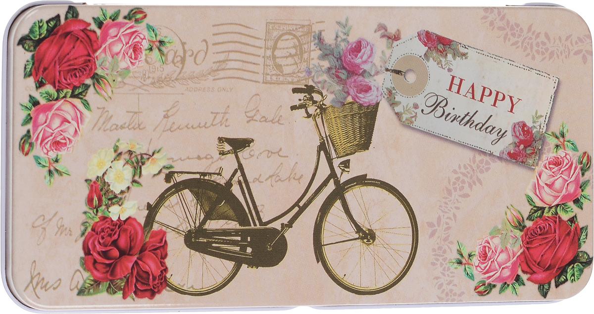 Коробка подарочная Феникс-Презент Велосипед, 16,6 х 7,6 х 1 смNLED-454-9W-BKПодарочная коробка Феникс-Презент Велосипед выполнена из черного окрашенного металла и украшена яркой картинкой, соответствующей событию, для которого предназначена. Подарочная коробка для денег - это наилучшее решение, если вы хотите порадовать ваших близких и создать праздничное настроение, ведь денежный подарок, преподнесенный в оригинальной коробке, всегда будет эффектным и запоминающимся.