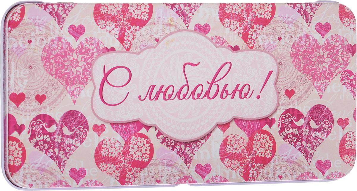 Коробка подарочная Феникс-Презент Сердечки, 16,6 х 7,6 х 1 смAM555029Подарочная коробка Феникс-Презент Сердечки выполнена из черного окрашенного металла и украшена яркой картинкой, соответствующей событию, для которого предназначена. Подарочная коробка для денег - это наилучшее решение, если вы хотите порадовать ваших близких и создать праздничное настроение, ведь денежный подарок, преподнесенный в оригинальной коробке, всегда будет эффектным и запоминающимся.