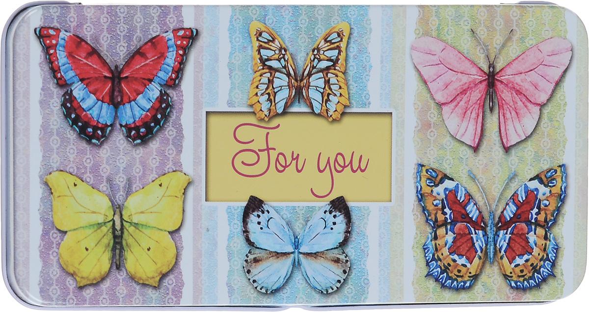 Коробка подарочная Феникс-Презент Эффект бабочки, 16,6 х 7,6 х 1 см785 MLПодарочная коробка Феникс-Презент Эффект бабочки выполнена из черного окрашенного металла и украшена яркой картинкой, соответствующей событию, для которого предназначена. Подарочная коробка для денег - это наилучшее решение, если вы хотите порадовать ваших близких и создать праздничное настроение, ведь денежный подарок, преподнесенный в оригинальной упаковке, всегда будет эффектным и запоминающимся.