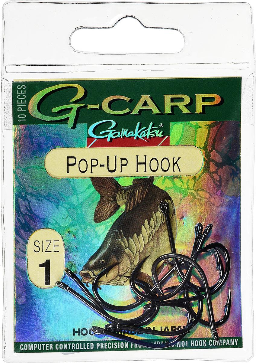 Крючок рыболовный Gamakatsu G-Carp. Pop-Up Hook, №1, 10 шт14665301800Gamakatsu G-Carp. Pop-Up Hook - легкий прочный крючок универсальной формы, предназначенный для создания различных схем волосяной оснастки c Pop-Up наживками. Крючок содержит жало с углублением, кованое цевье, джиг-крючок, круглое ушко.На сегодняшний день рыболовные крючки Gamakatsu являются лучшими по качеству в Японии и Европе. Все крючки выполняются из очень прочной стальной проволоки. Жала крючков имеют химическую заточку. Вид крепления: ушко.Размер крючка: №1.