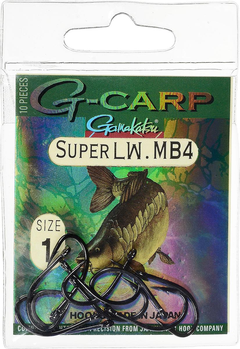 Крючок рыболовный Gamakatsu G-Carp Super LW MB4, размер 1, 10 шт97455Крючок Gamakatsu G-Carp Super LW MB4 подходит для ловли карпа. Изделие изготовлено из стали повышенной прочности. Крючок долго остается острым и легко впивается даже в твердую кость. Крючок не имеет бокового отгиба, жало прямое. Применяется в составе волосяных оснасток с тонущими насадками, а также с насадками типа снеговик. Подходит для растительных и животных насадок. Крючок прекрасно справляется на участках дна с наличием донного мусора. Размер: 1.Количество: 10 шт. Вид головки: кольцо.