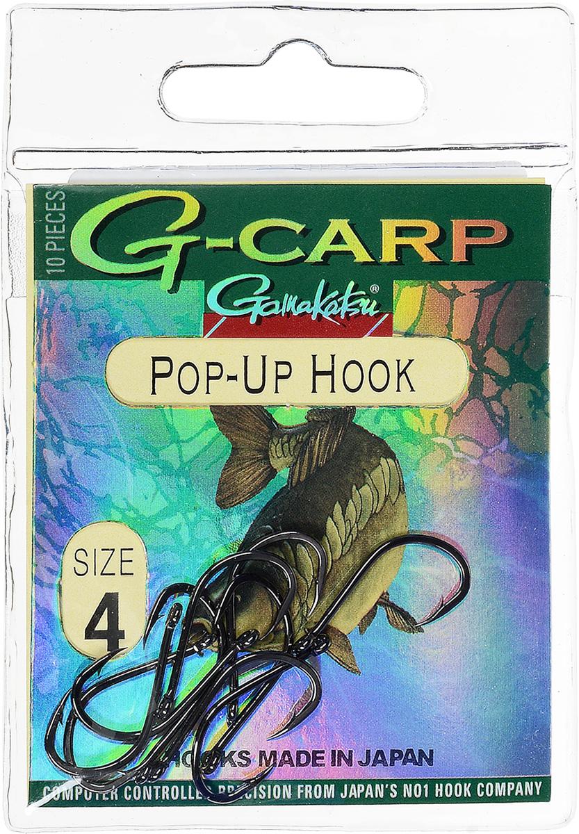 Крючок рыболовный Gamakatsu G-Carp. Pop-Up Hook, №4, 10 шт14792200800Gamakatsu G-Carp. Pop-Up Hook - легкий прочный крючок универсальной формы, предназначенный для создания различных схем волосяной оснастки c Pop-Up наживками. Крючок содержит жало с углублением, кованое цевье, джиг-крючок, круглое ушко.На сегодняшний день рыболовные крючки Gamakatsu являются лучшими по качеству в Японии и Европе. Все крючки выполняются из очень прочной стальной проволоки. Жала крючков имеют химическую заточку. Вид крепления: ушко.Размер крючка: №4.