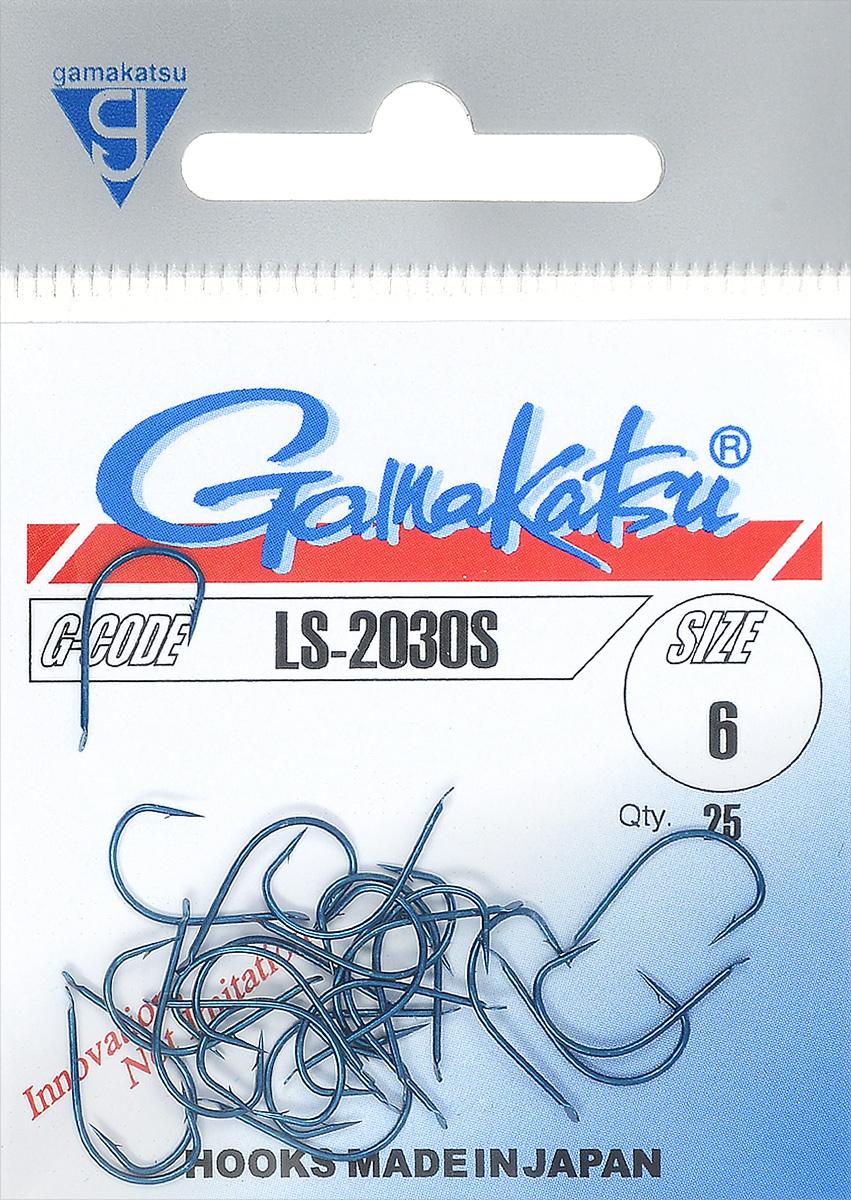 Крючок рыболовный Gamakatsu LS-2030S, размер 6, 25 шт крючок рыболовный gamakatsu sl11 3h t размер 2 12 шт