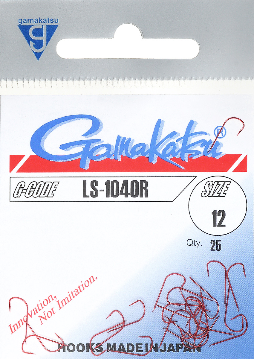 Крючок рыболовный Gamakatsu LS-1040R, размер 12, 25 шт крючок рыболовный gamakatsu sl11 3h t размер 2 12 шт