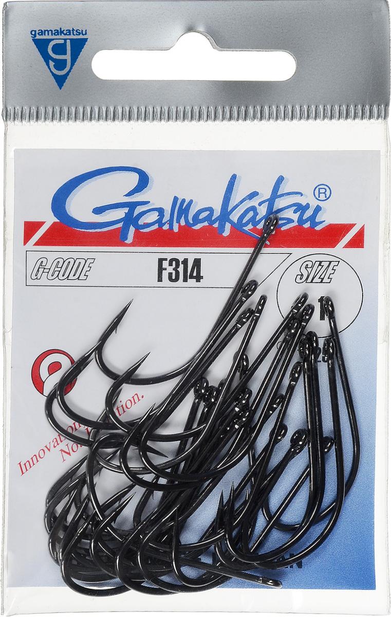 Крючок рыболовный Gamakatsu F314, размер 1, 25 шт607-12010Крючок Gamakatsu F314 прекрасно подойдет для ловли щуки и окуня. Изделие изготовлено из высококачественной и прочной стали. Подходит для растительных и животных насадок. Крючок предназначен для вязания плавающих насадок. Крючок идеально справляется с любой рыбой как на море, так и на спокойной воде. Размер: 1.Количество: 25 шт. Вид головки: кольцо.
