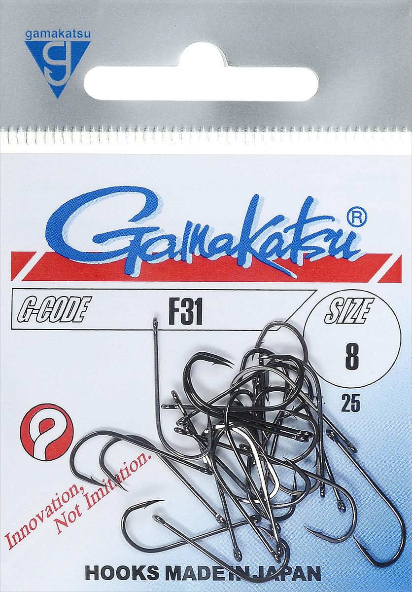 Крючок рыболовный Gamakatsu F31, размер 8, 25 штPGPS7797CIS08GBNVИзделие изготовлено из высококачественной и прочной стали. Подходит для растительных и животных насадок. Крючок предназначен для рыбалки нахлыстом и с поплавком. Крючок идеально справляется с любой рыбой как на море, так и на спокойной воде. Размер: 8.Количество: 25 шт. Вид головки: кольцо.