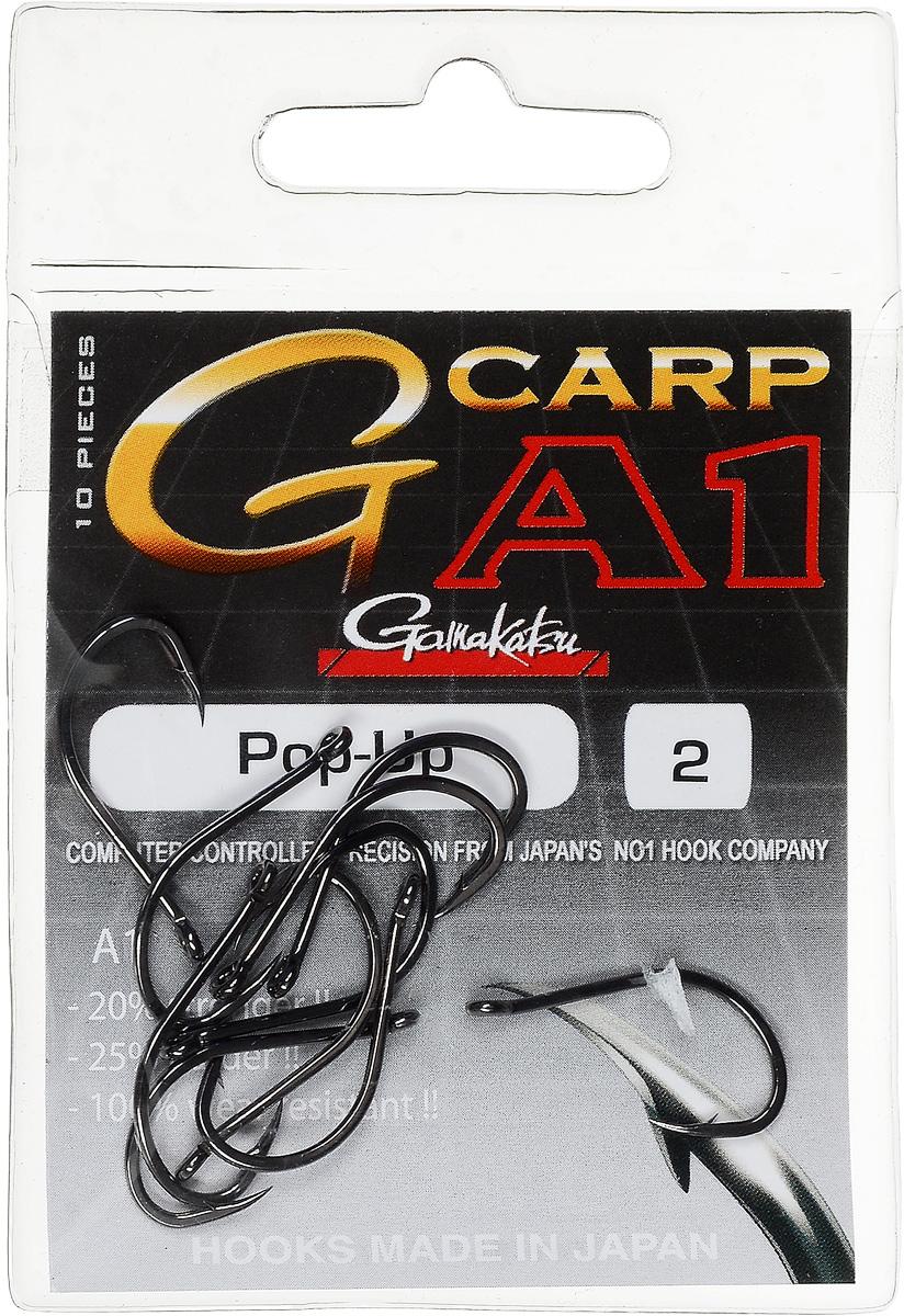 Крючок рыболовный Gamakatsu A1 G-Carp Pop-up, размер 2, 10 шт010-01199-23Крючок Gamakatsu A1 G-Carp Pop-up подходит для ловли карпа. Изделие изготовлено из стали повышенной прочности. Крючки долго остаются острыми. Жесткий крючок будет держать более острые углы в течение длительного вываживания и не сломается. Подходит для растительных и животных насадок. Крючок прекрасно справляется с любой рыбой как на море, так и на спокойной воде. Размер: 2.Количество: 10 шт. Вид головки: кольцо.