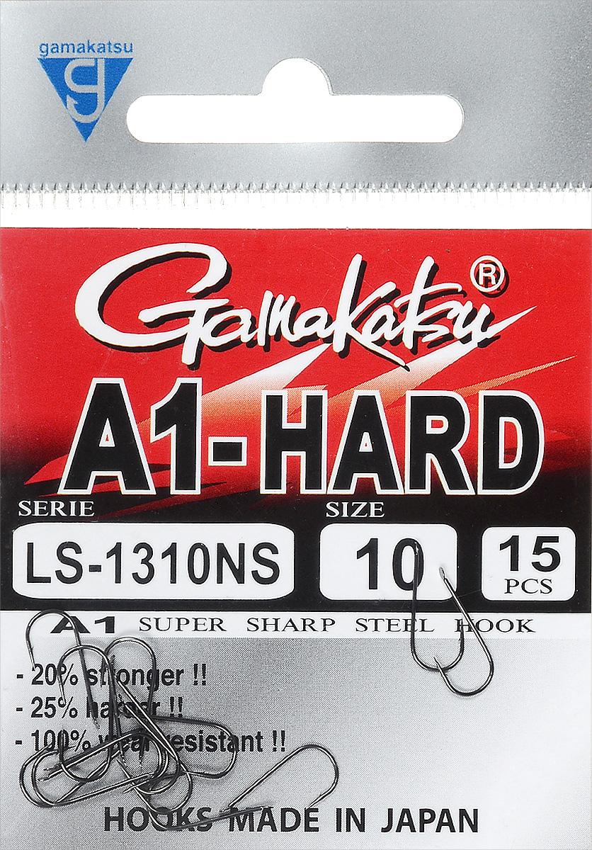 Крючок рыболовный Gamakatsu A1 LS-1310NS, размер 10, 15 штLJH520-001Крючок Gamakatsu A1 LS-1310NS подходит для ловли рыбы. Изделие изготовлено из высококачественной стали. Крючок долго остается острым. Жало крючка прямое. Крючок достаточно универсален и может применяться в разных видах ловли. Подходит для растительных и животных насадок. Крючок прекрасно справляется с любой рыбой как на море, так и на спокойной воде. Размер: 10.Количество: 15 шт. Вид головки: лопатка.