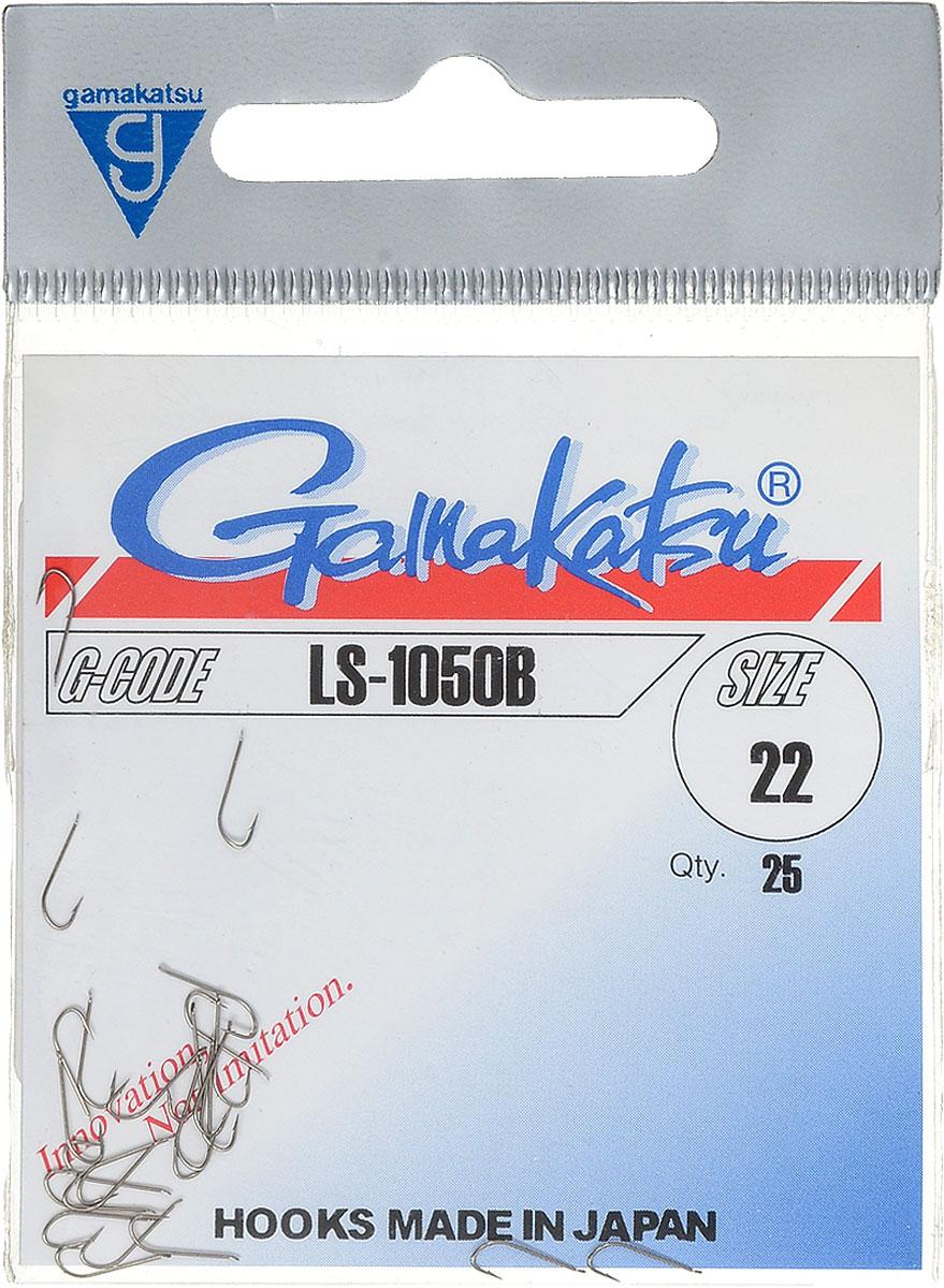Крючок рыболовный Gamakatsu LS-1050B, №22, 25 штMABLSEH10001Рыболовный крючок Gamakatsu LS-1050B изготовлен из стали, подходит для ловли плотвы.Крючок Gamakatsu LS-1050B - это крючок с лопаткой, удлиненным цевьем и острым изгибом. Выполненные из высококачественной стали, крючки на 20% надежнее и мощнее по сравнению с большинством аналогов.Размер крючка: №22. Вид крепления: лопатка.Количество штук в упаковке: 25 штук.