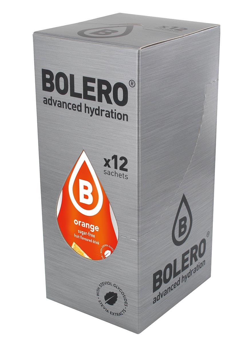 Напиток быстрорастворимый Bolero Orange / Апельсин, 9 г х 12 шт4872Что же такое Bolero Drinks?В первую очередь это - вкусовая добавка без сахара, без глютена, без жиров и углеводов.Bolero Drinks – это мгновенные напитки, которые не содержат сахар, не содержат лактозы, не содержат консервантов, не содержат глютен, не содержат искусственных вкусовых и цветообразующих добавок!!!!!!! Каждый пакетик Bolero Drinks на Стивии весит 9 г, и его достаточно, чтобы подготовить 1,5-2 литра сока, в зависимости от вашего желания. Эти маленькие пакетики очень удобно носить с собой, и подготовка натурального напитка проста - просто добавьте в 1,5-2 литра холодной воды и размешайте. Но Bolero Drinks – это не только напитки. Это великолепное дополнение к каше, творогу и другим субстанциям. Состав: Без добавления ГМО. Не содержит Глютен, без сахара. Кислоты: лимонная кислота, яблочная кислота, мальтодекстрин; ароматические и вкусовые вещества; L-аскорбиновая кислота. Натуральные ароматизаторы и подсластители: ацесульфам К, сукралоза,стевиогликозиды (экстракты стевии), регулятор кислотности: тринатрийцитрат. Разрыхлитель: трикальцийфосфат; Загустители: гуаровая камедь, гуммиарабик (аравийская камедь).