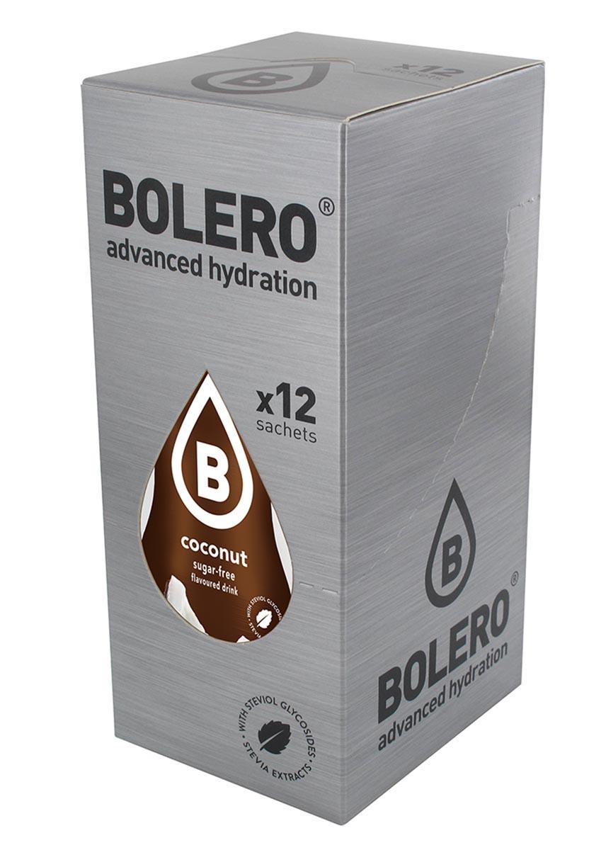Напиток быстрорастворимый Bolero Coconut / Кокос, 9 г х 12 шт100300Что же такое Bolero Drinks?В первую очередь это - вкусовая добавка без сахара, без глютена, без жиров и углеводов.Bolero Drinks – это мгновенные напитки, которые не содержат сахар, не содержат лактозы, не содержат консервантов, не содержат глютен, не содержат искусственных вкусовых и цветообразующих добавок!!!!!!! Каждый пакетик Bolero Drinks на Стивии весит 9 г, и его достаточно, чтобы подготовить 1,5-2 литра сока, в зависимости от вашего желания. Эти маленькие пакетики очень удобно носить с собой, и подготовка натурального напитка проста - просто добавьте в 1,5-2 литра холодной воды и размешайте. Но Bolero Drinks – это не только напитки. Это великолепное дополнение к каше, творогу и другим субстанциям. Состав: Без добавления ГМО. Не содержит Глютен, без сахара. Кислоты: лимонная кислота, яблочная кислота, мальтодекстрин; ароматические и вкусовые вещества; L-аскорбиновая кислота. Натуральные ароматизаторы и подсластители: ацесульфам К, сукралоза,стевиогликозиды (экстракты стевии), регулятор кислотности: тринатрийцитрат. Разрыхлитель: трикальцийфосфат; Загустители: гуаровая камедь, гуммиарабик (аравийская камедь).