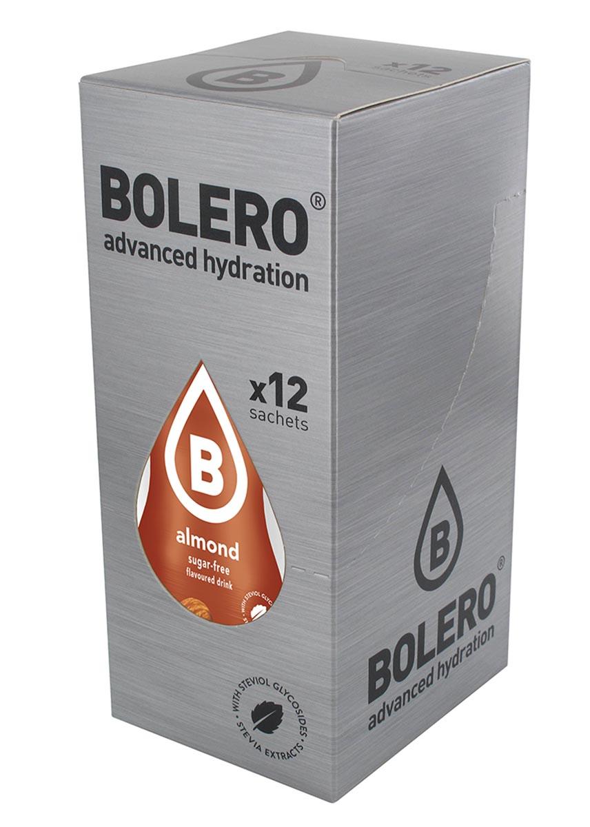 Напиток быстрорастворимый Bolero Almond / Миндаль, 9 г х 12 штSF 0085Что же такое Bolero Drinks?В первую очередь это - вкусовая добавка без сахара, без глютена, без жиров и углеводов.Bolero Drinks – это мгновенные напитки, которые не содержат сахар, не содержат лактозы, не содержат консервантов, не содержат глютен, не содержат искусственных вкусовых и цветообразующих добавок!!!!!!! Каждый пакетик Bolero Drinks на Стивии весит 9 г, и его достаточно, чтобы подготовить 1,5-2 литра сока, в зависимости от вашего желания. Эти маленькие пакетики очень удобно носить с собой, и подготовка натурального напитка проста - просто добавьте в 1,5-2 литра холодной воды и размешайте. Но Bolero Drinks – это не только напитки. Это великолепное дополнение к каше, творогу и другим субстанциям. Состав: Без добавления ГМО. Не содержит Глютен, без сахара. Кислоты: лимонная кислота, яблочная кислота, мальтодекстрин; ароматические и вкусовые вещества; L-аскорбиновая кислота. Натуральные ароматизаторы и подсластители: ацесульфам К, сукралоза,стевиогликозиды (экстракты стевии), регулятор кислотности: тринатрийцитрат. Разрыхлитель: трикальцийфосфат; Загустители: гуаровая камедь, гуммиарабик (аравийская камедь).