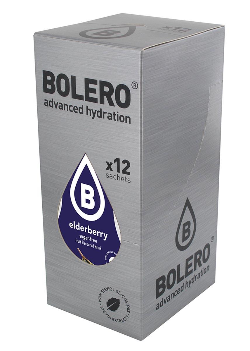 Напиток быстрорастворимый Bolero Elderberry / Ягоды бузины, 9 г х 12 штУТ000001705Что же такое Bolero Drinks?В первую очередь это - вкусовая добавка без сахара, без глютена, без жиров и углеводов.Bolero Drinks – это мгновенные напитки, которые не содержат сахар, не содержат лактозы, не содержат консервантов, не содержат глютен, не содержат искусственных вкусовых и цветообразующих добавок!!!!!!! Каждый пакетик Bolero Drinks на Стивии весит 9 г, и его достаточно, чтобы подготовить 1,5-2 литра сока, в зависимости от вашего желания. Эти маленькие пакетики очень удобно носить с собой, и подготовка натурального напитка проста - просто добавьте в 1,5-2 литра холодной воды и размешайте. Но Bolero Drinks – это не только напитки. Это великолепное дополнение к каше, творогу и другим субстанциям. Состав: Без добавления ГМО. Не содержит Глютен, без сахара. Кислоты: лимонная кислота, яблочная кислота, мальтодекстрин; ароматические и вкусовые вещества; L-аскорбиновая кислота. Натуральные ароматизаторы и подсластители: ацесульфам К, сукралоза,стевиогликозиды (экстракты стевии), регулятор кислотности: тринатрийцитрат. Разрыхлитель: трикальцийфосфат; Загустители: гуаровая камедь, гуммиарабик (аравийская камедь).