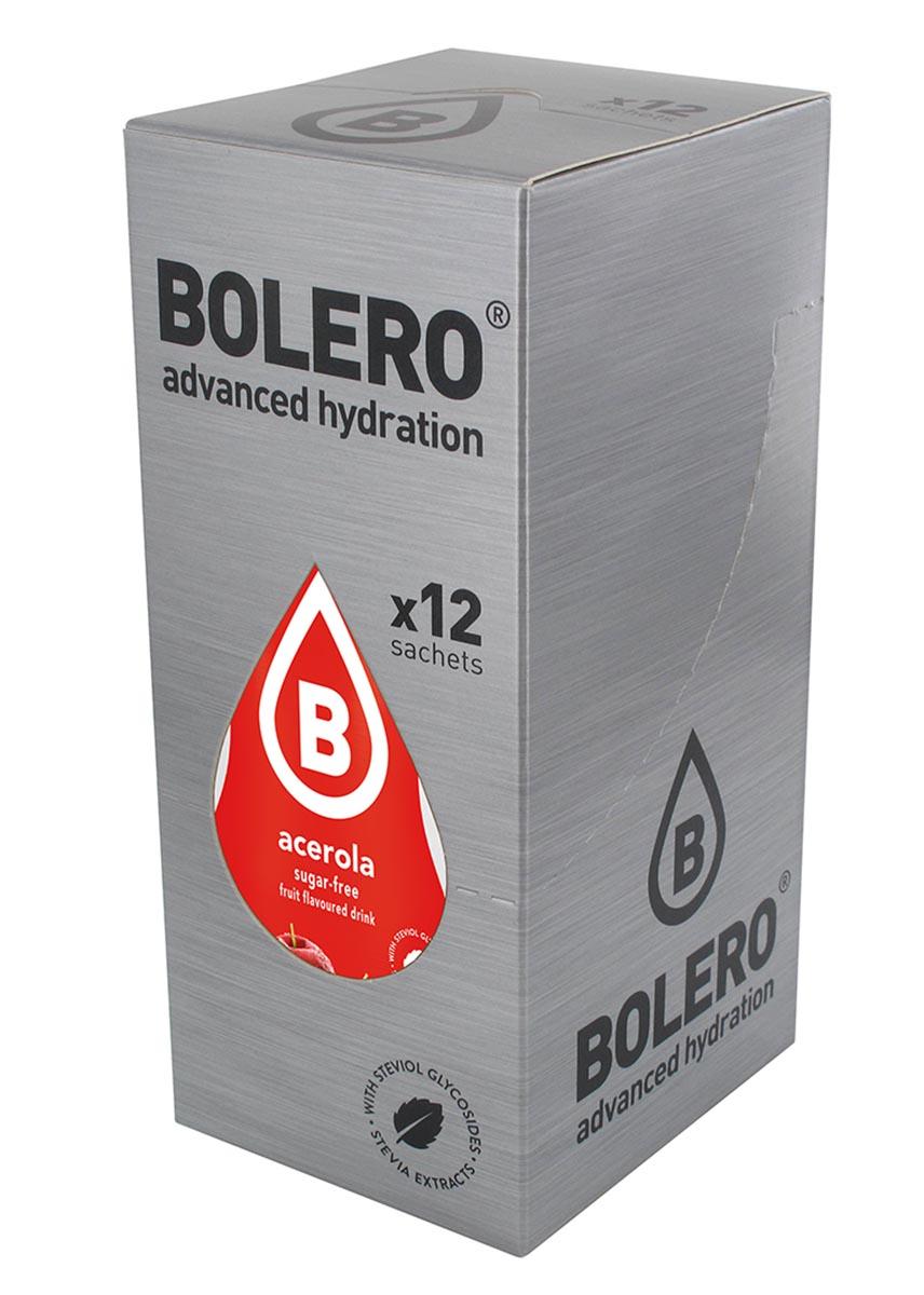 Напиток быстрорастворимый Bolero Acerola / Барбадосская вишня, 9 г х 12 штDRIW.611.INЧто же такое Bolero Drinks?В первую очередь это - вкусовая добавка без сахара, без глютена, без жиров и углеводов.Bolero Drinks – это мгновенные напитки, которые не содержат сахар, не содержат лактозы, не содержат консервантов, не содержат глютен, не содержат искусственных вкусовых и цветообразующих добавок!!!!!!! Каждый пакетик Bolero Drinks на Стивии весит 9 г, и его достаточно, чтобы подготовить 1,5-2 литра сока, в зависимости от вашего желания. Эти маленькие пакетики очень удобно носить с собой, и подготовка натурального напитка проста - просто добавьте в 1,5-2 литра холодной воды и размешайте. Но Bolero Drinks – это не только напитки. Это великолепное дополнение к каше, творогу и другим субстанциям. Состав: Без добавления ГМО. Не содержит Глютен, без сахара. Кислоты: лимонная кислота, яблочная кислота, мальтодекстрин; ароматические и вкусовые вещества; L-аскорбиновая кислота. Натуральные ароматизаторы и подсластители: ацесульфам К, сукралоза,стевиогликозиды (экстракты стевии), регулятор кислотности: тринатрийцитрат. Разрыхлитель: трикальцийфосфат; Загустители: гуаровая камедь, гуммиарабик (аравийская камедь).