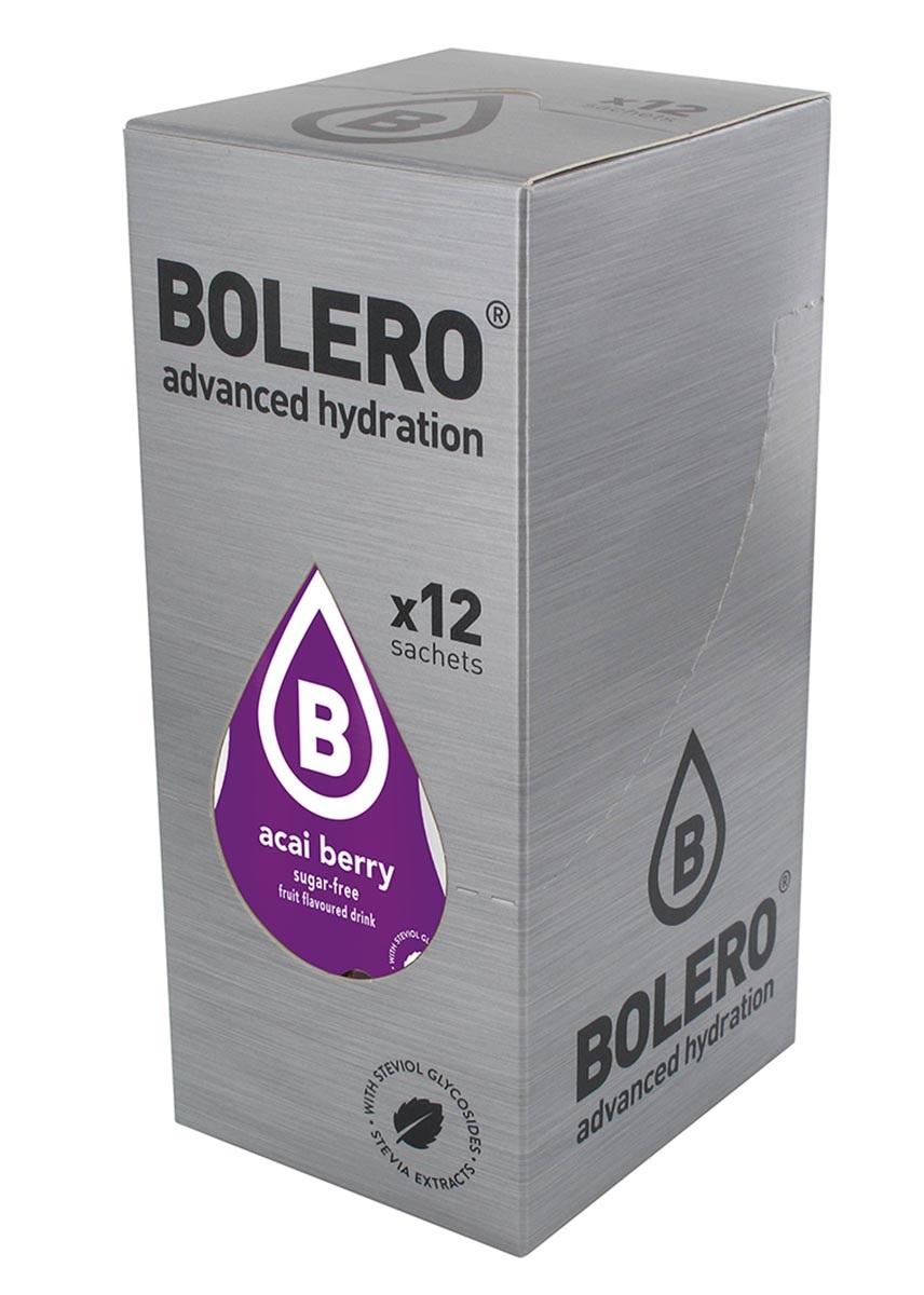 Напиток быстрорастворимый Bolero Acai Berry / Ягоды асайот, 9 г х 12 штSF 0085Что же такое Bolero Drinks?В первую очередь это - вкусовая добавка без сахара, без глютена, без жиров и углеводов.Bolero Drinks – это мгновенные напитки, которые не содержат сахар, не содержат лактозы, не содержат консервантов, не содержат глютен, не содержат искусственных вкусовых и цветообразующих добавок!!!!!!! Каждый пакетик Bolero Drinks на Стивии весит 9 г, и его достаточно, чтобы подготовить 1,5-2 литра сока, в зависимости от вашего желания. Эти маленькие пакетики очень удобно носить с собой, и подготовка натурального напитка проста - просто добавьте в 1,5-2 литра холодной воды и размешайте. Но Bolero Drinks – это не только напитки. Это великолепное дополнение к каше, творогу и другим субстанциям. Состав: Без добавления ГМО. Не содержит Глютен, без сахара. Кислоты: лимонная кислота, яблочная кислота, мальтодекстрин; ароматические и вкусовые вещества; L-аскорбиновая кислота. Натуральные ароматизаторы и подсластители: ацесульфам К, сукралоза,стевиогликозиды (экстракты стевии), регулятор кислотности: тринатрийцитрат. Разрыхлитель: трикальцийфосфат; Загустители: гуаровая камедь, гуммиарабик (аравийская камедь).