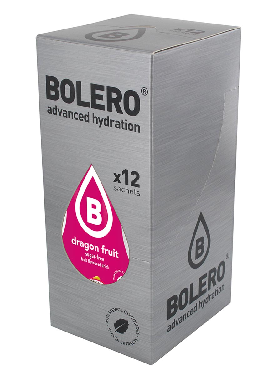 Напиток быстрорастворимый Bolero Dragon Fruit / Драконий фрукт, 9 г х 12 штWRA523700Что же такое Bolero Drinks?В первую очередь это - вкусовая добавка без сахара, без глютена, без жиров и углеводов.Bolero Drinks – это мгновенные напитки, которые не содержат сахар, не содержат лактозы, не содержат консервантов, не содержат глютен, не содержат искусственных вкусовых и цветообразующих добавок!!!!!!! Каждый пакетик Bolero Drinks на Стивии весит 9 г, и его достаточно, чтобы подготовить 1,5-2 литра сока, в зависимости от вашего желания. Эти маленькие пакетики очень удобно носить с собой, и подготовка натурального напитка проста - просто добавьте в 1,5-2 литра холодной воды и размешайте. Но Bolero Drinks – это не только напитки. Это великолепное дополнение к каше, творогу и другим субстанциям. Состав: Без добавления ГМО. Не содержит Глютен, без сахара. Кислоты: лимонная кислота, яблочная кислота, мальтодекстрин; ароматические и вкусовые вещества; L-аскорбиновая кислота. Натуральные ароматизаторы и подсластители: ацесульфам К, сукралоза,стевиогликозиды (экстракты стевии), регулятор кислотности: тринатрийцитрат. Разрыхлитель: трикальцийфосфат; Загустители: гуаровая камедь, гуммиарабик (аравийская камедь).