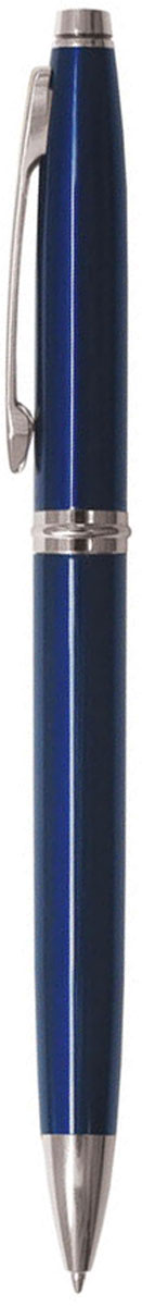 Berlingo Ручка шариковая Silver Classic синяя96550Классическая автоматическая шариковая ручка Berlingo Silver Classic с поворотным механизмом. Клип, наконечник и кольцо выполнены из жёлтого металла. Цвет чернил - синий. Диаметр пишущего узла - 0,7 мм. Подходит для нанесения логотипа. Ручка упакована в индивидуальный пластиковый футляр.