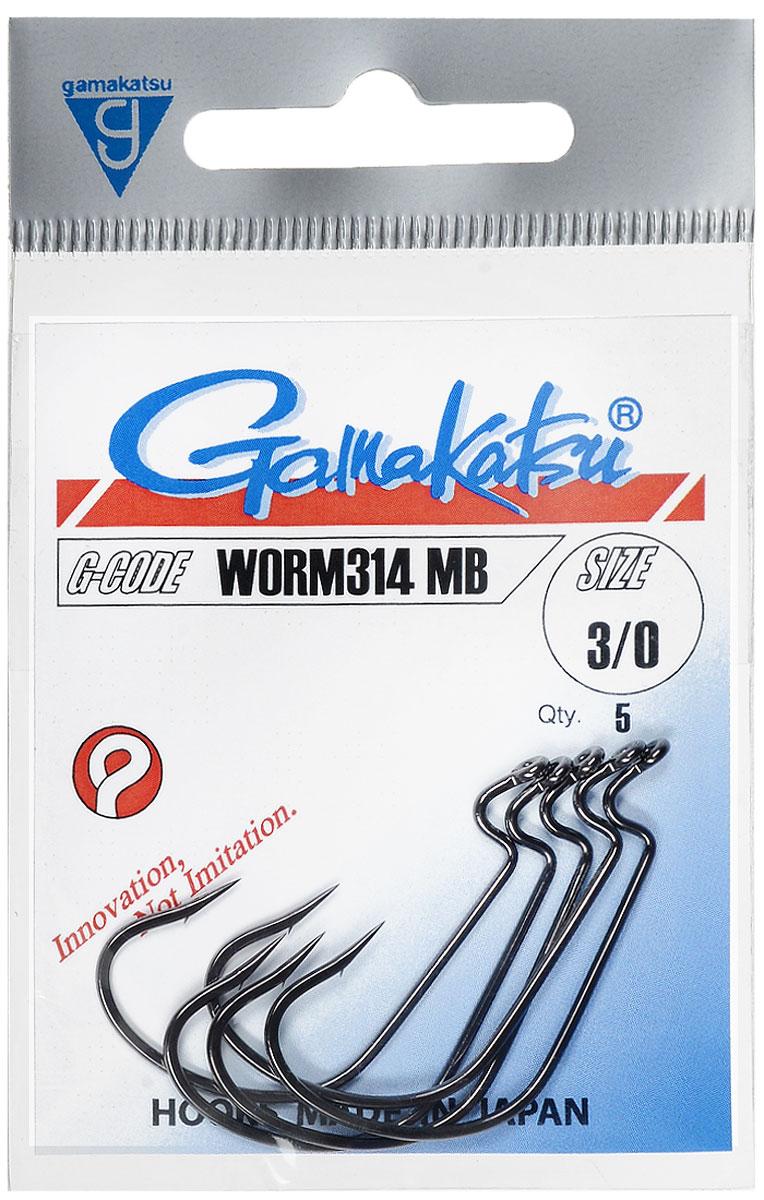 Крючок рыболовный Gamakatsu Worm314 MB, размер 3/0, 5 шт14678800400Крючок Gamakatsu Worm314 MB прекрасно подойдет для ловли крупной рыбы. Изделие изготовлено из высококачественной стали и имеет длинное изогнутое цевье. Крючок идеально справляется с любой рыбой как на море, так и на спокойной воде. Размер: 3/0.Количество: 5 шт. Вид головки: кольцо.