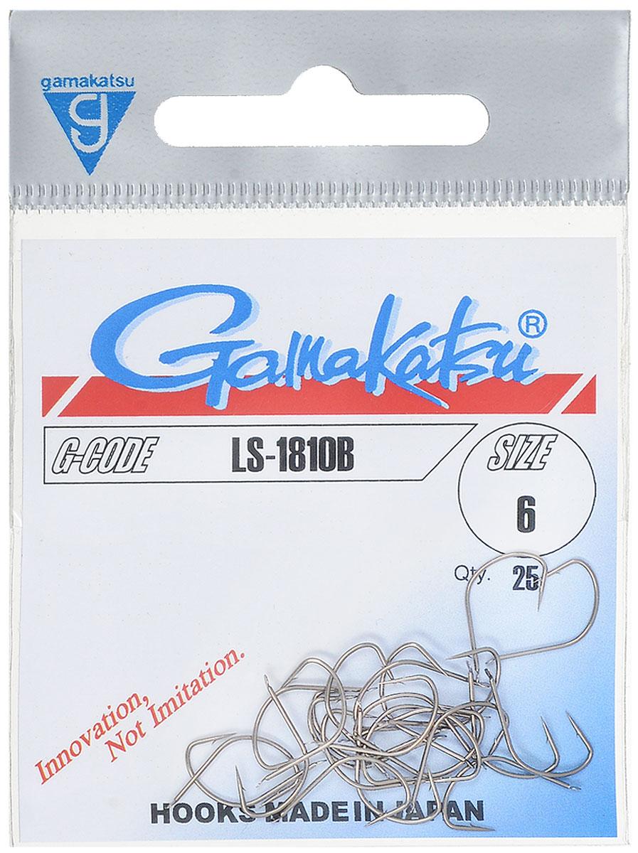 Крючок рыболовный Gamakatsu LS-1810B, №6, 25 шт10936Крючок Gamakatsu LS-1810B - это крючок с лопаткой, удлиненным цевьем и острым изгибом. Выполненные из высококачественной стали крючки на 20% надежнее и мощнее по сравнению с большинством аналогов.Размер крючка: №6. Вид крепления: лопатка.Количество штук в упаковке: 25 штук.