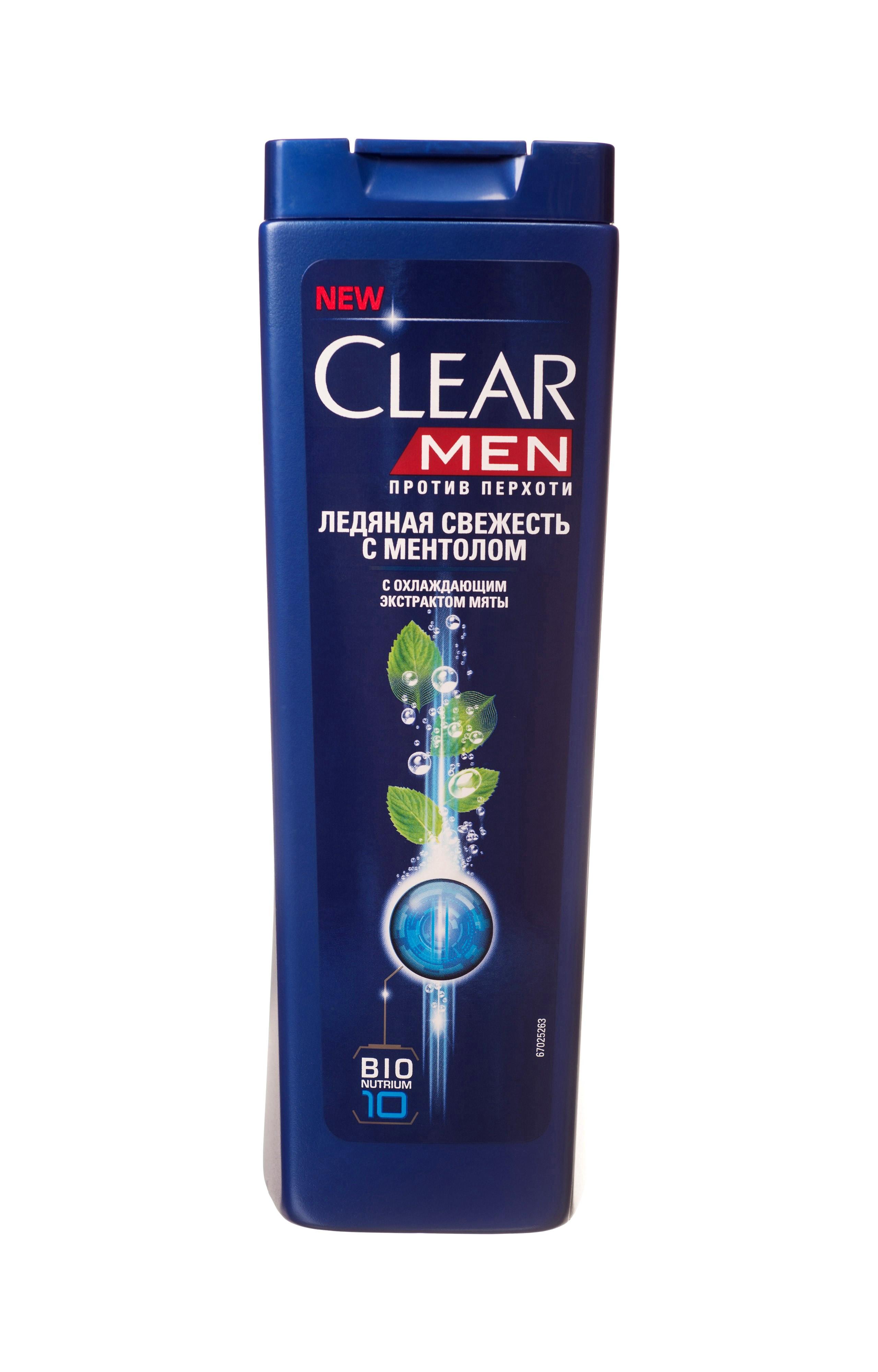 Clear Men Шампунь против перхоти Ледяная свежесть с ментолом 400 млFS-54102Созданный специально для мужчин Шампунь Ледяная свежесть с ментолом и эвкалиптом обеспечивает двойное действие: унимает зуд и смягчает раздражение. Комплекс Nutrium 10, входящий в состав шампуня — это насыщенная смесь 10 питательных веществ и растительных активных компонентов. При регулярном применении он активирует естественный защитный слой против перхоти кожи головы, позволяя вам гарантированно защищаться от перхоти.