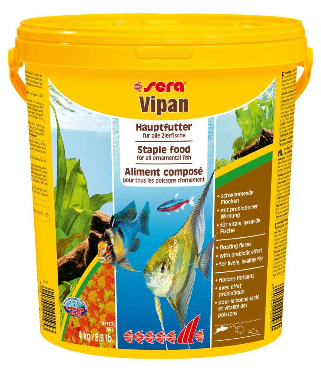 Корм для рыб Sera Vipan, крупные хлопья, 21 л (4 кг)0120710Корм для рыб Sera Vipan - хорошо сбалансированный основной корм в виде крупных хлопьев, содержащий более 40 ингредиентов. Идеально подходит для ежедневного кормления всех декоративных рыб в общих аквариумах. Сбалансированный состав удовлетворяет потребности множества видов. Бережная обработка гарантирует сохранение ценных ингредиентов (например, жирных кислот Омега, витаминов и минералов). Белки и другие питательные вещества делают этот корм высокопитательным и легко перевариваемым рыбами. Формула Vital-Immun-Protect гарантирует вашим рыбам прекрасное здоровье, укрепление иммунитета и обилие жизненных сил. Специальный метод приготовления позволяет хлопьям сохранять свою форму в течение длительного времени, не загрязняя воду. Хлопья в то же время очень нежны и поэтому охотно поедаются рыбой. Ингредиенты: рыбная мука, пшеничная мука, пивные дрожжи, казеинат кальция, гаммарус, яичный порошок, рыбий жир, маннанолигосахарид (MOS 0,4%), спирулина, травы, люцерна, крапива, мука из зеленых губчатых моллюсков, водоросли, зелень петрушки, перец, шпинат, чеснок, морковь, красители, разрешенные в ЕС. Аналитический состав: протеины 46,2%, жиры 8,9%, клетчатка 2,3%, зола 11,9%, влажность 6,7%. Витамины и провитамины на кг: витамин А 37000МЕ, витамин В1 35 мг, витамин В2 90 мг, витамин С 550 мг, витамин D3 1800МЕ, витамин Е 120 мг. Товар сертифицирован.