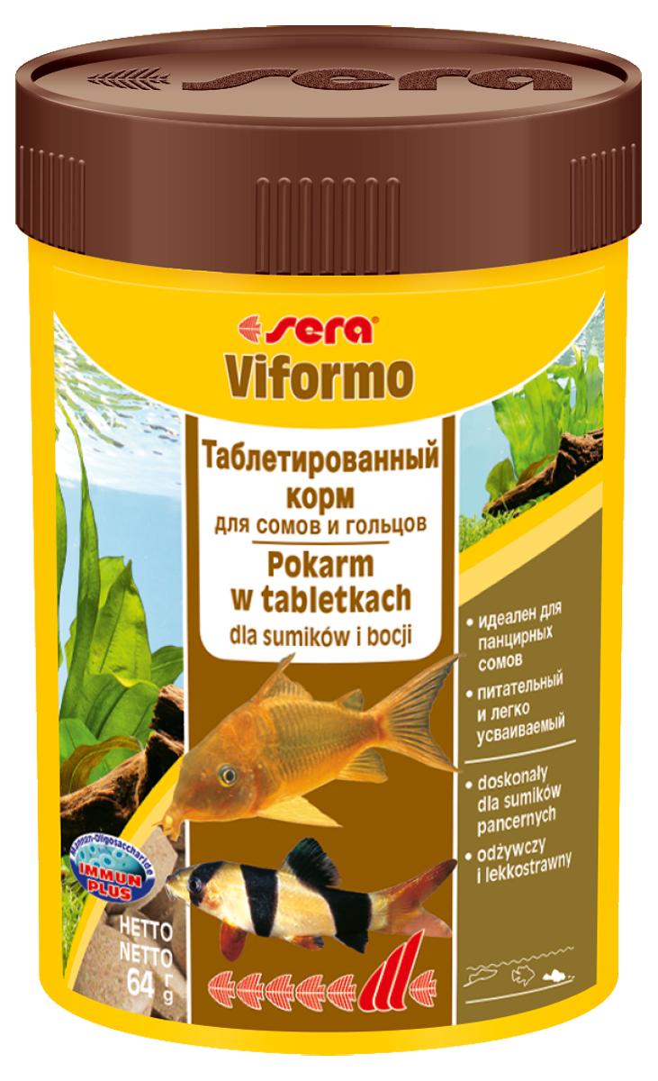 Корм для рыб Sera Viformo, 100 мл (64 г), 275 таблеток62150Корм для рыб Sera Viformo предназначен для сомиков и способствует их здоровому развитию и жизнестойкости. Корм выполнен в виде легко усваиваемых таблеток. Таблетки при опускании на дно делятся на крохотные кусочки, что гарантирует соответствующее питание для рыб с маленьким ртом, например, панцирных сомов или гольцов. Кусочки корма остаются спрессованными и не загрязняют воду. Формула Vital-Immun-Protect гарантирует рыбам прекрасное здоровье, укрепление иммунитета и обилие жизненных сил. Инструкция по применению: Кормить один-два раза в день, но только в том количестве, которое рыбы могут съесть в течение короткого периода времени. Ингредиенты: рыбная мука, пшеничная мука, сухое молоко, пивные дрожжи, казеинат кальция, ганмарус, сахар, цельный яичньм порошок, спирулма, морские водоросли, маннанолитсахариды (0,4%), жир из печени рыбы (34% Омега жирных кислот), растительное сырье, лоцерна, крапива, петрушка, зеленые мидии, водоросль гематококкус, паприка, шпинат, морковь, чеснок. Аналитический состав: протеин 44,0%, жиры 8,9%, клетчатка 3,4%, влажность 5,6%, зольные вещества 11,3%. Содержание добавок: витамин A 30.000 lU/kg, витамин D3 1.500 lU/kg, витамин E (D, L-c-tocopheryl acetate) 60 mg/kg, витамин B1 30 mg/kg, витамин B2 90 mg/kg, стаб. витамин С (L-ascorbyl monophosphate) 550 mg/kg. Содержит пищевые красители, допустимые в ЕС. Товар сертифицирован.