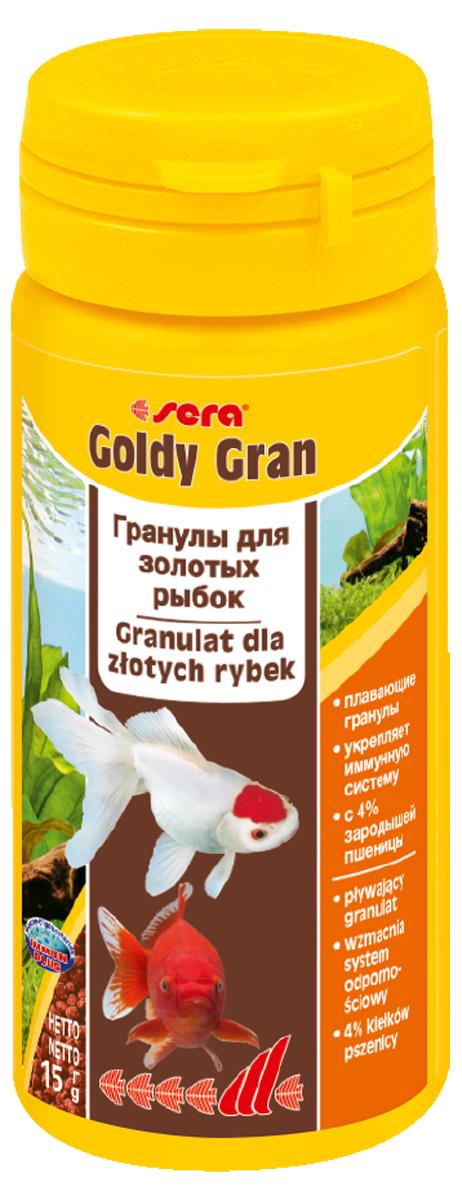 Корм для рыб Sera Goldy Gran, 50 мл (15 г)0863Корм для рыб Sera Goldy Gran - комплексный корм для холодноводных рыб (аквариумных и прудовых), идеальный основной корм для золотых рыбок. Плавающие гранулы корма, благодаря высококачественным ингредиентам, обеспечивают всеми необходимыми питательными веществами даже самые привередливые виды рыб. Входящие в состав корма зародыши пшеницы гарантируют высокую усвояемость корма, в том числе при низких температурах. Рыбы, таким образом, растут и остаются здоровыми без перекармливания. Результатом кормления этим кормом будут яркие цвета, здоровый рост, крепкая иммунная система, плодовитость и жизнеспособность рыб. Инструкция по применению: Кормите небольшими порциями один-два раза в день, в течение всего года. Дозируйте такое количество корма, которое рыбы могут съесть в течение короткого периода времени. Ингредиенты: рыбная мука, кукурузный крахмал, пшеничная мука, пшеничные зародыши (4%), пшеничная клейковина, рыбий жир, пивные дрожжи, маннанолигосахариды (0,4%), криль, зеленые мидии, чеснок. Аналитический состав: протеин 33,0%, жиры 7,2%, клетчатка 4,8%, влажность 5,4%, зольные вещества 5,8%.Витамины и провитамины: витамин А 14.400 МЕ/кг, витамин D31.800 МЕ/кг, витамин Е (D, L-a-tocopheryl acetate) 180 мг/кг, витамин В1 18 мг/кг, витамин В2 18 мг/кг, витамин С (L-ascorbyl monophosphate) 180 мг/кг. Содержит пищевые красители, допустимые в ЕС. Товар сертифицирован.
